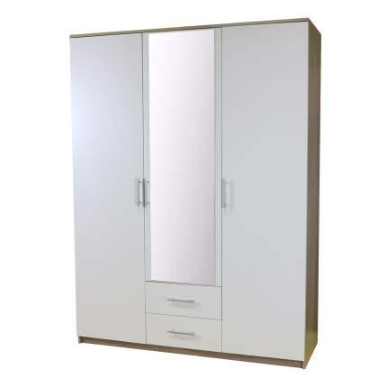 Шкаф Шарм-Дизайн Уют 150х52х200 Дуб Сонома и Белый