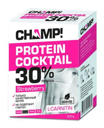 Коктейль протеиновый Champ клубничный 5 пакетов по 40 г