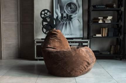 Кресло Мешок Груша Коричневый Микровельвет (XL, Классический)