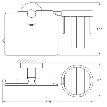 Держатель освежителя воздуха и туалетной бумаги с крышкой Artwelle Harmonie HAR 051