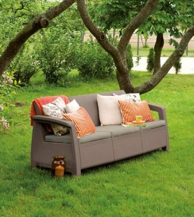 Садовый диван Keter Corfu love seat max 17197959/КАП капучино