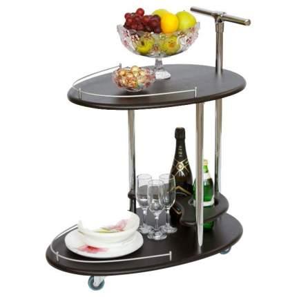 Сервировочный столик Калифорния 80x47x70 см, серебристый