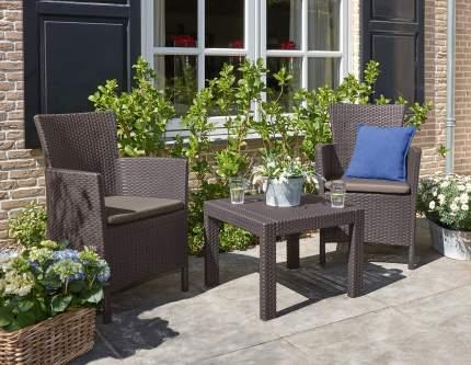 Набор садовой мебели Allibert Rosario balcony set 17200030 brown 3 предмета