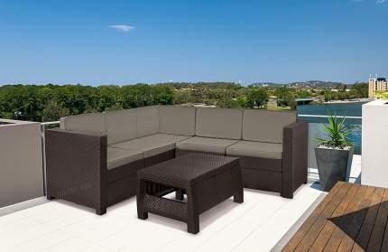Набор садовой мебели Keter КProvence set 17204454/КОР brown 2 предмета