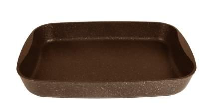 Противень литой 36,5х26х5,5см Кофейный мрамор ТМ KUKMARA пмк02а