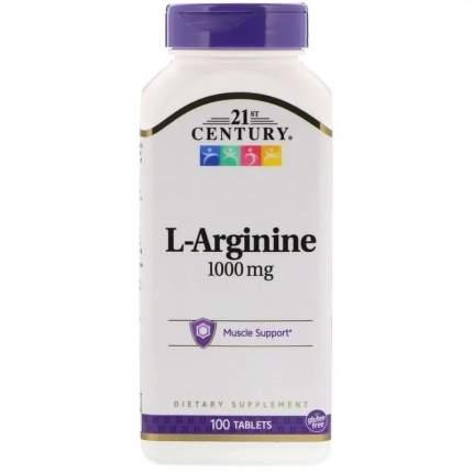 L-Arginine 1000 21st Century, 100 таблеток