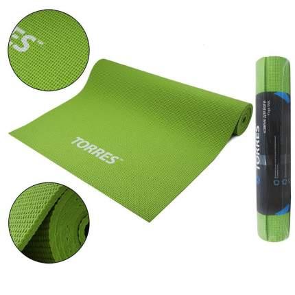 Коврик для йоги и фитнеса Torres Optima 6 PVC зеленый 6 мм