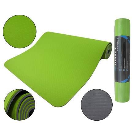 Коврик для йоги Torres Comfort 6 TPE зеленый 6 мм