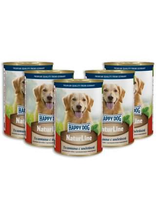 Консервы для собак Happy Dog NaturLine, телятина, индейка, 5шт по 400г