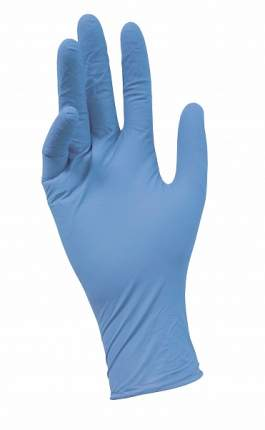 Перчатки Nitrile нитриловые эластичные М, голубые, 50 пар