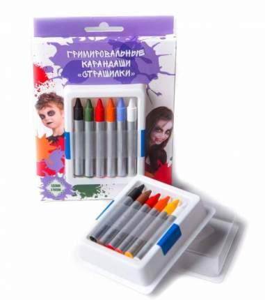 Аквагрим ФТКОСМЕТИК 020105 карандаши страшилки 6 цв.