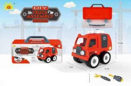 Машина конструктор Junfa toys Сделай сам Пожарная машина, в чемоданчике