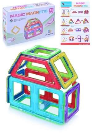 Конструктор магнитный Junfa toys Домик, 10 деталей