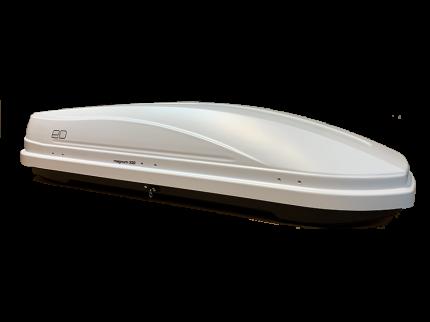 Бокс на крышу автомобиля Евродеталь Магнум ED5-064B 330л белый карбон 185х60х42