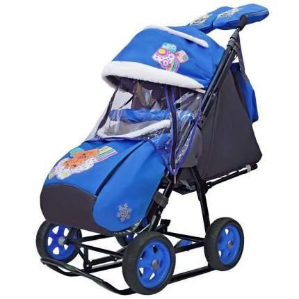 Санки-коляска Galaxy Snow City-1 2 Медведя на облаке, сумка + варежки