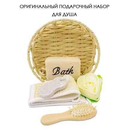 Набор подарочный для душа VenusShape Корзина цвет бежевый 26х26х7 см