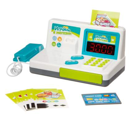 Игровой набор Bondibon Играем в магазин, с кассовым аппаратом и аксессуарами, 20 предметов