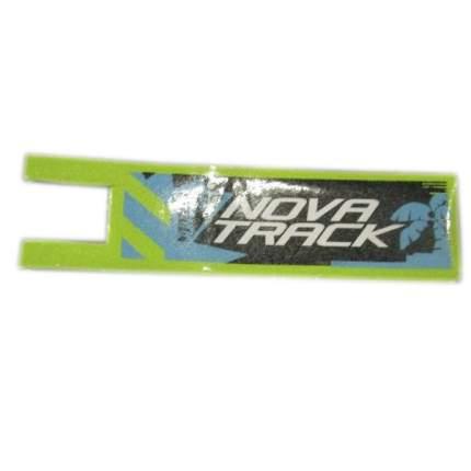 Шкурка-накладка на деку городского самоката Novatrack JUNGLE зеленая, 33,5х9 см