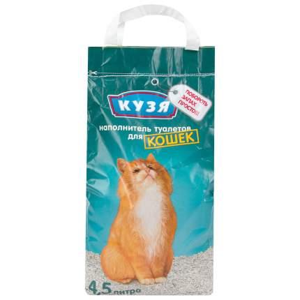 Впитывающий наполнитель для кошек Кузя бентонитовый, 2.2 кг, 4.5 л