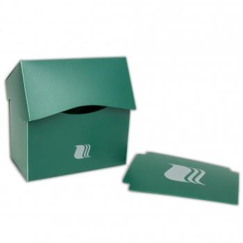Пластиковая коробочка blackfire горизонтальная - зеленая 80+ карт