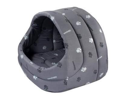 Домик для кошек и собак Дарэлл Лукошко, серый, 54x44x48см