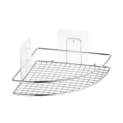 """Полка-решетка Угловая для ванной настенная на силиконовом креплении """"Kleber Lite"""""""