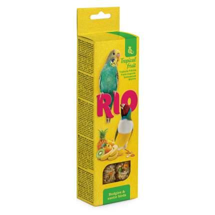 Лакомство для волнистых попугаев и экзотических птиц RIO тропические фрукты, 2 шт