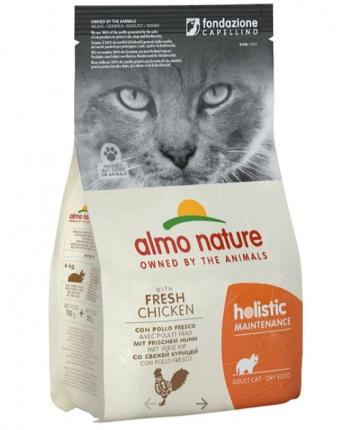 Сухой корм для кошек Almo Nature Holistic, курица и коричневый рис, 2кг