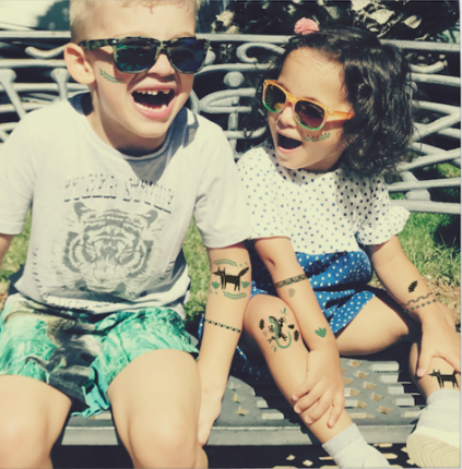 """Детские татуировки-переводилки VoiceBook Tattoo """"Лиса и Ящерица"""""""