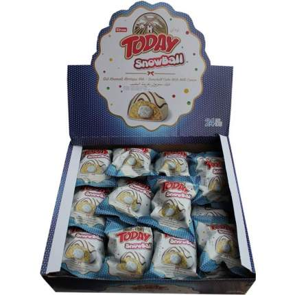 Кекс Today Snowball 24шт*50гр с молочной начинкой
