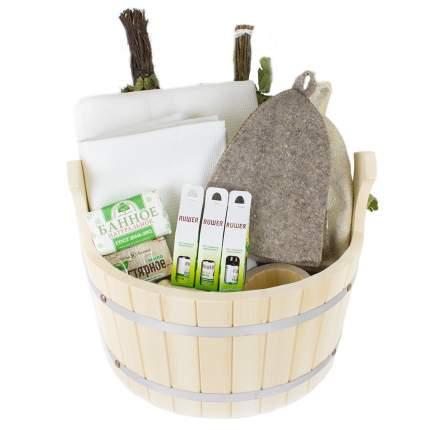 Подарочный набор для бани в шайке Семейный Minba пн011