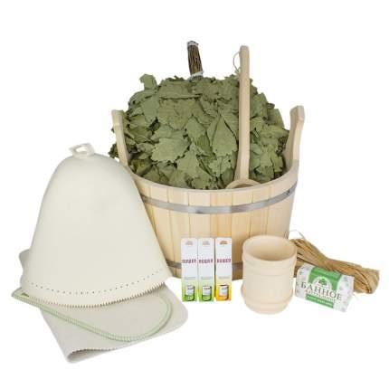Подарочный набор для бани в шайке Люкс Minba пн013