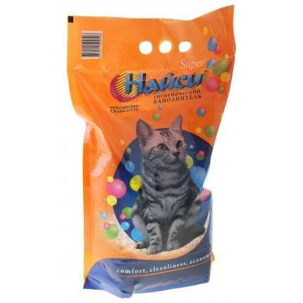 Впитывающий наполнитель для кошек Найси SUPER силикагелевый, 2.1 кг, 4.5 л