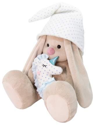 Мягкая игрушка BUDI BASA Зайка Ми с голубой подушкой - единорогом, 23 см