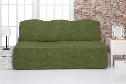 """Чехол на трехместный диван без подлокотников и оборки Venera """"Sofa"""", цвет: зелёный"""