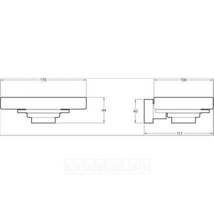 Мыльница Jacob Delafon Mecanique E77868-CP подвесная