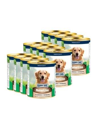 Консервы для собак Happy Dog Natur Line, телятина, 12шт, 970г