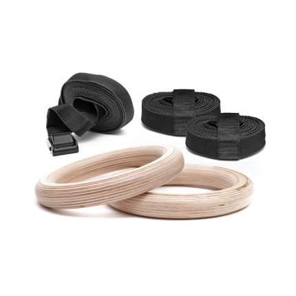 Спортивные деревянные кольца для гимнастики TigerWood EcoSport 28 + Запасной Ремень