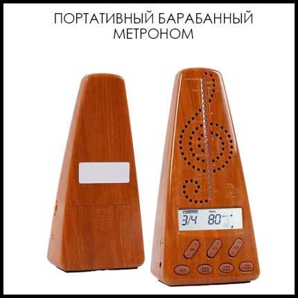 Портативн метроном для барабанов метротюнер темн дерев 16х9,2х9,2см The String ST-METR-03