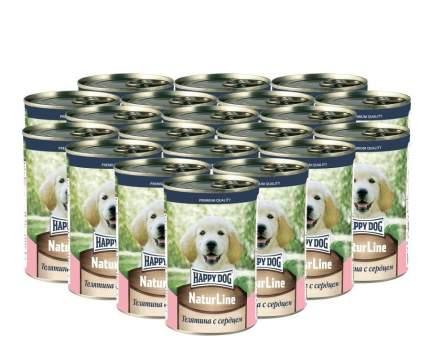 Влажный корм для собак Happy Dog , телятина, 20шт, 410г