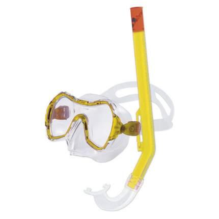Маска для плавания Salvas Haiti Set желтая