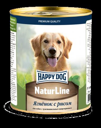 Влажный корм для собак Happy Dog , ягненок, 12шт, 970г