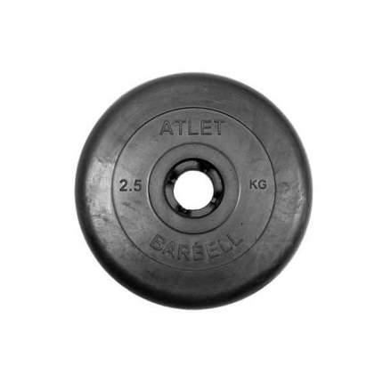 Диск обрезиненный черный Mb Atlet d-31 2,5кг