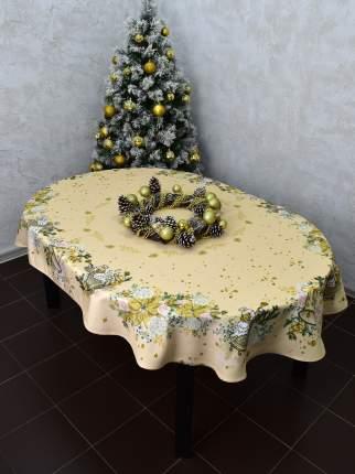 """Скатерть овальная """"Мистерия Рождества"""" 220*150 см"""
