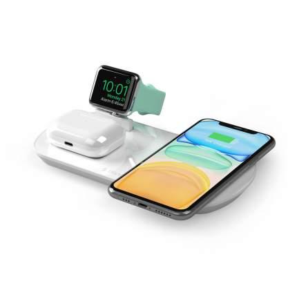 Беспроводное зарядное устройство Deppa  3в1:iPhone, Apple Watch, Airpods