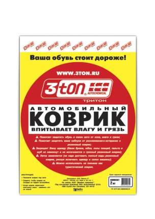 Автомобильный коврик (впитывает влагу и грязь) 3ton ТХ-350 38*50 см