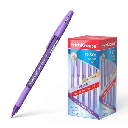 Ручка шариковая ErichKrause® R-301 Violet Stick&Grip 0.7, фиолетовый в коробке 50 шт