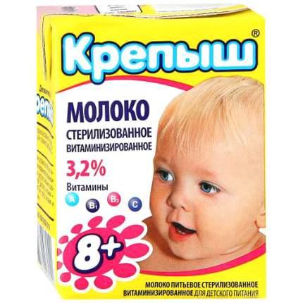 Молоко Крепыш стерилизованное с 8 месяцев 3.2% 200 мл