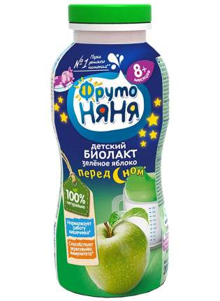Продукт к/м фрутоняня биолакт  с 8 мес зеленое яблоко 2,9 % 200 г