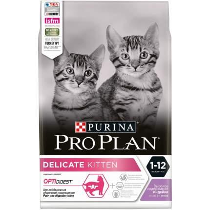 Сухой корм для котят PRO PLAN Delicate Kitten, индейка, 3кг